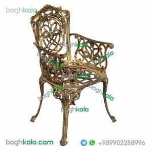 صندلی آلومینیوم پتینه طلایی