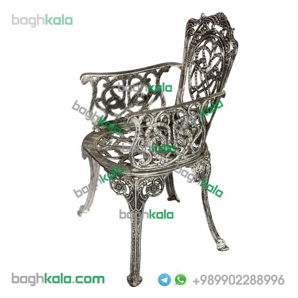 صندلی آلومینیوم پتینه نقره ایی