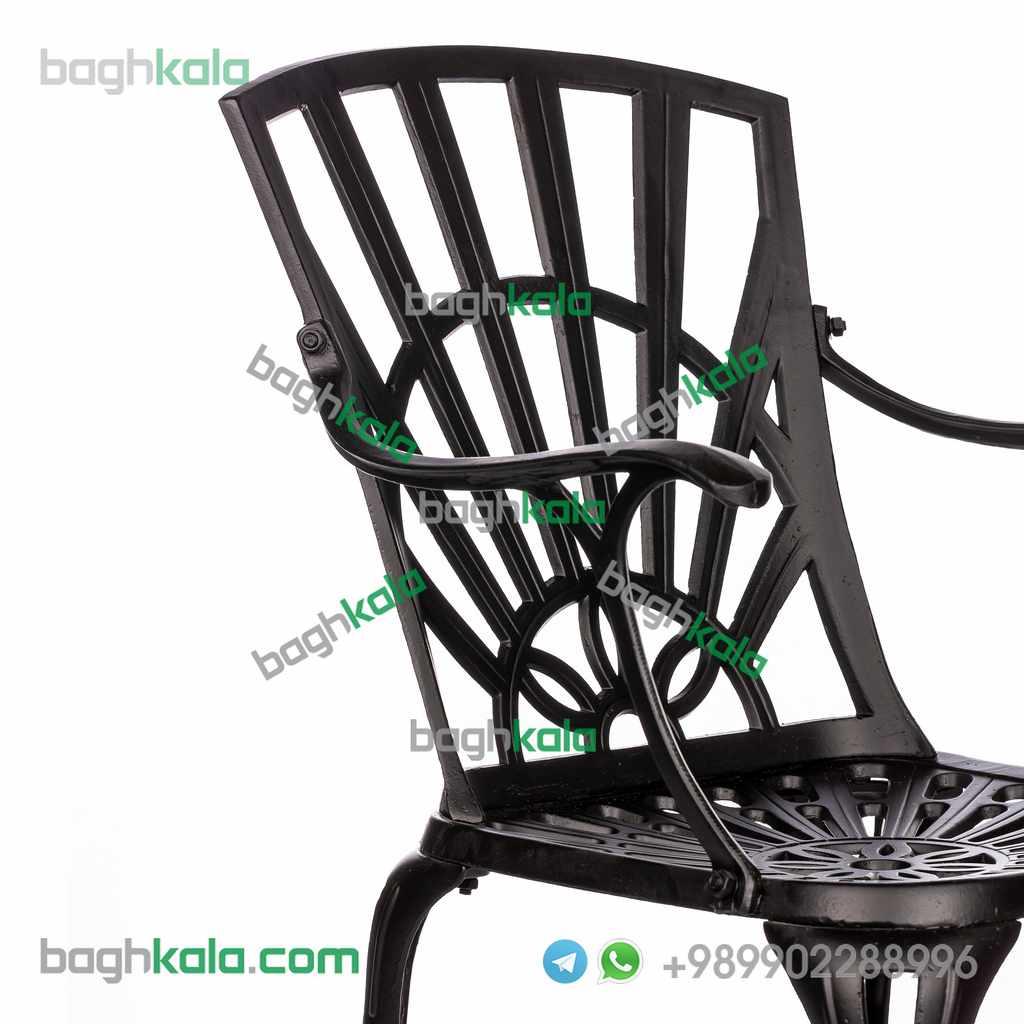 صندلی فضای باز آلومینیومی آزالیا دسته دار