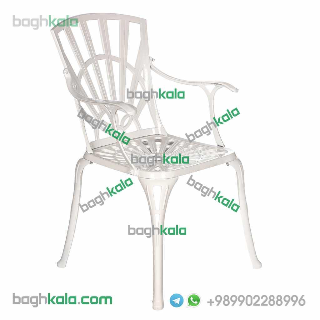 صندلی فضای باز آلومینیومی گل آزالیا