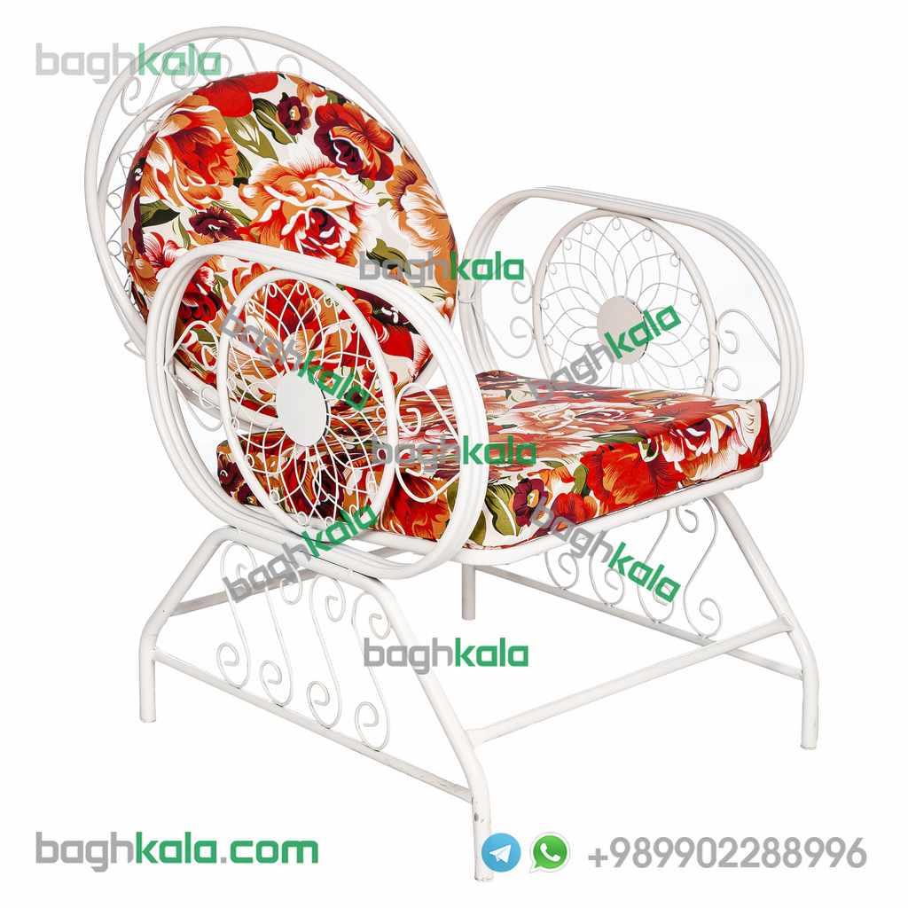 صندلی ویلایی فرفورژه اطلسی