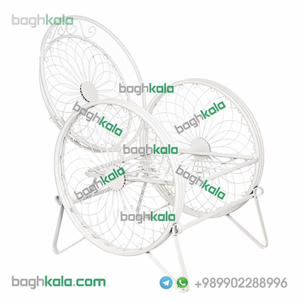 صندلی باغی فرفورژه زنبق
