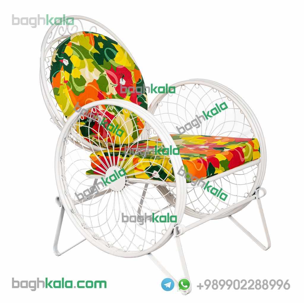 خرید صندلی باغی فرفورژه گل زنبق