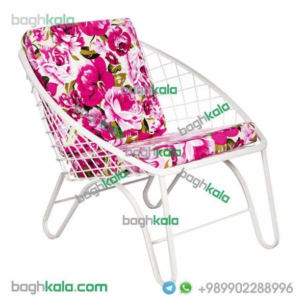 تشک صندلی پریوش گل آرا گل صورتی