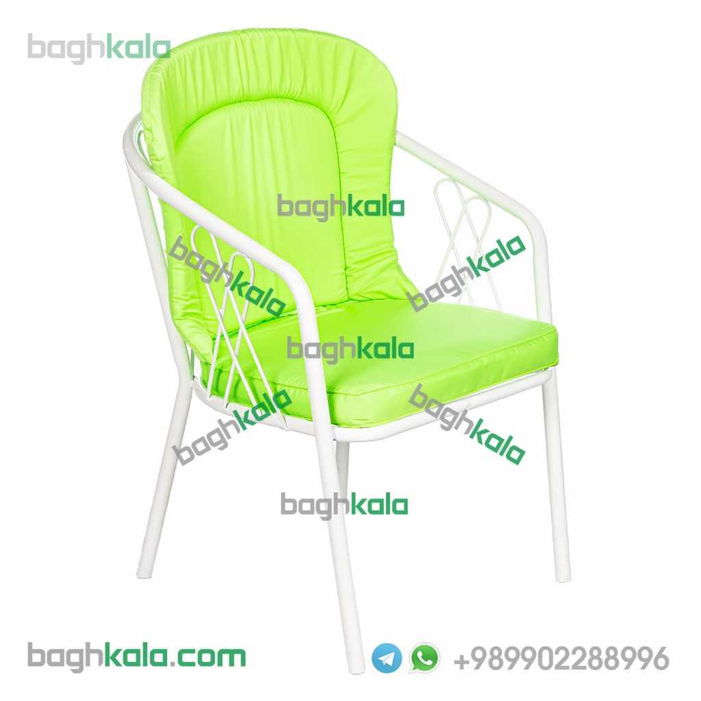 تشک صندلی گل آکامیا و گل لادن سبز