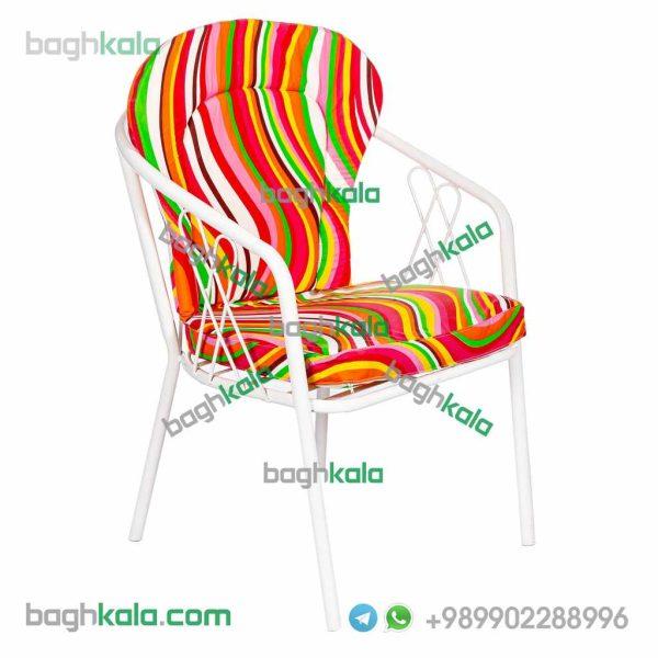 تشک صندلی گل آکامیا و گل لادن موج سبز