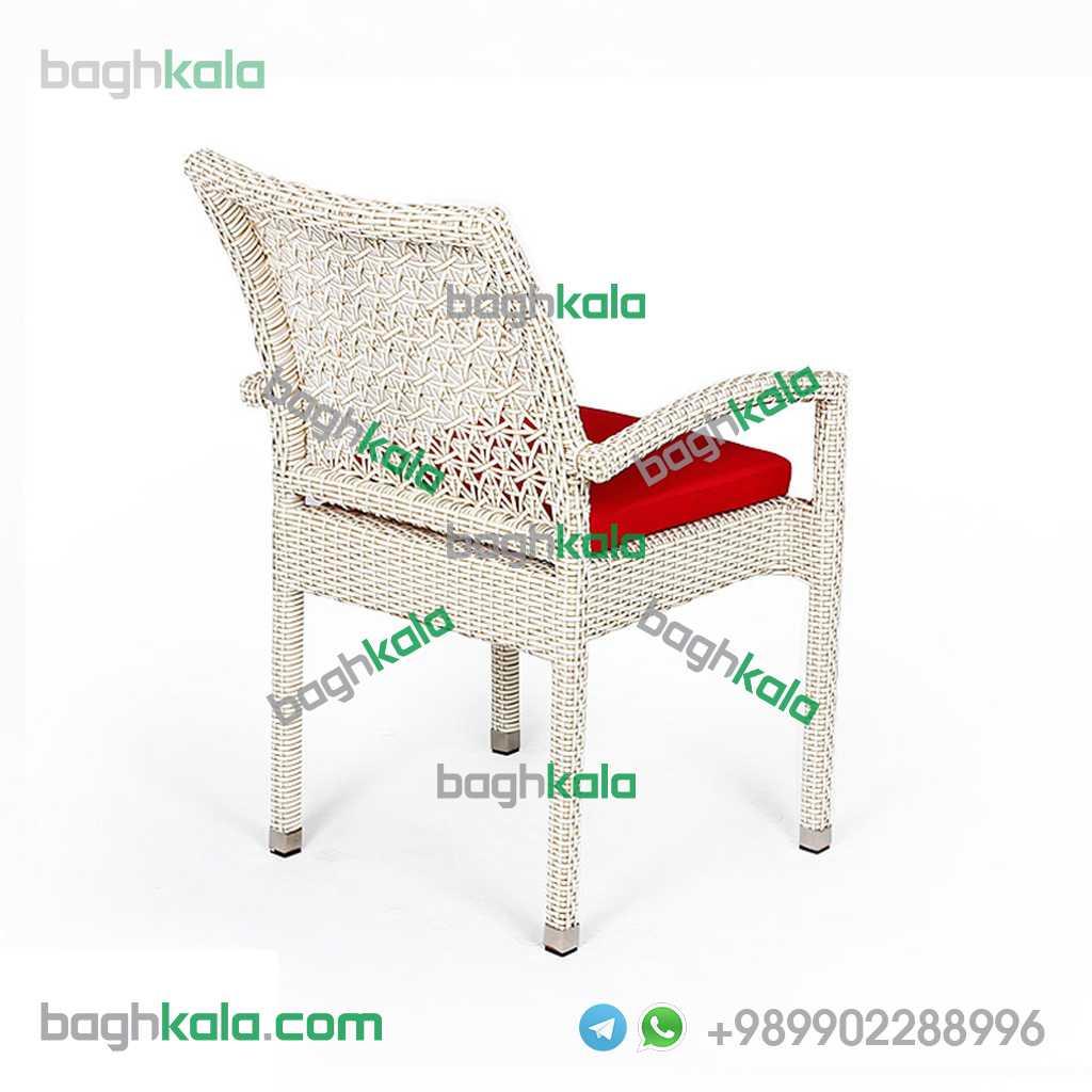 صندلی باغ حصیری ارغوان