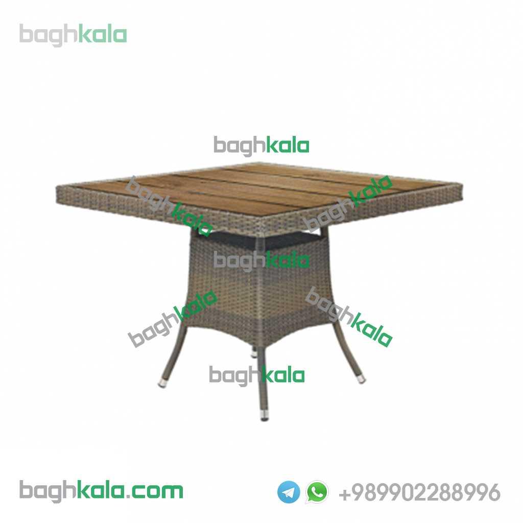 میز حصیری مربع