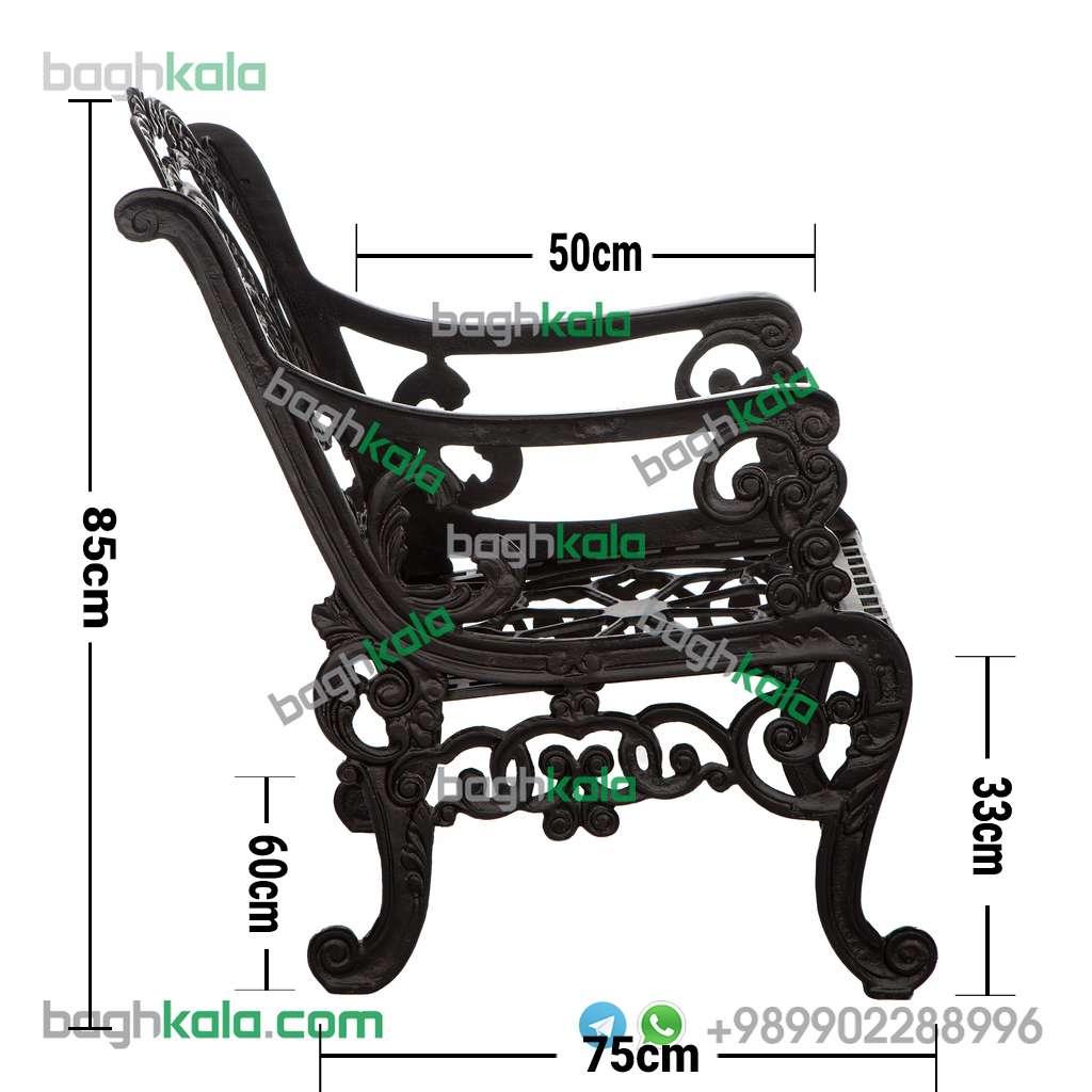 ابعاد صندلی آلومینیومی کاج