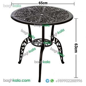 ابعاد میز آلومینیومی قطر 65