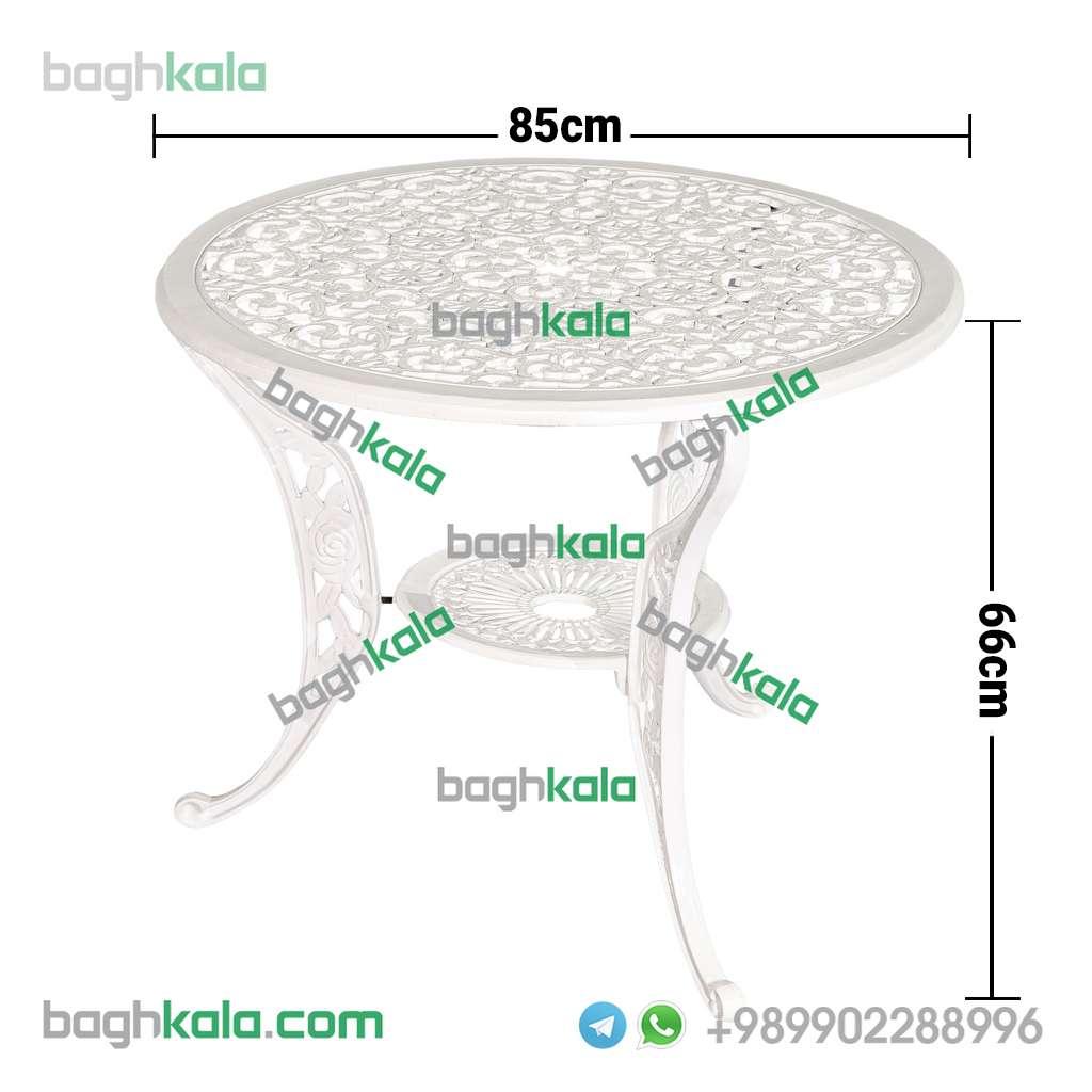 ابعاد میز آلومینیومی قطر 85