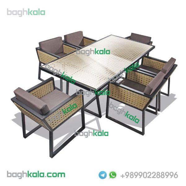 میز و صندلی حصیری ریحان