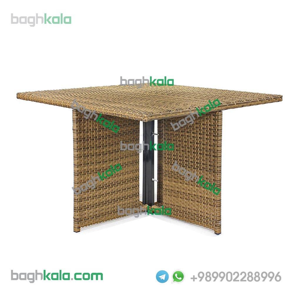 میز حصیری مربع شاه پسند